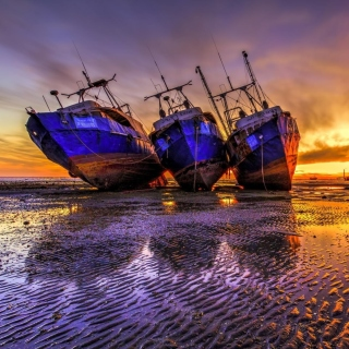 Ship graveyard in Nouadhibou, Mauritania Wallpaper for Nokia 6100