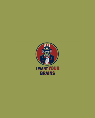 I Want Your Brains - Obrázkek zdarma pro iPhone 6 Plus