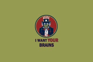 I Want Your Brains sfondi gratuiti per 1366x768