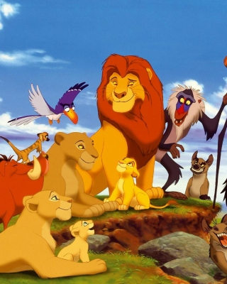 The Lion King Disney Cartoon sfondi gratuiti per Nokia C2-03