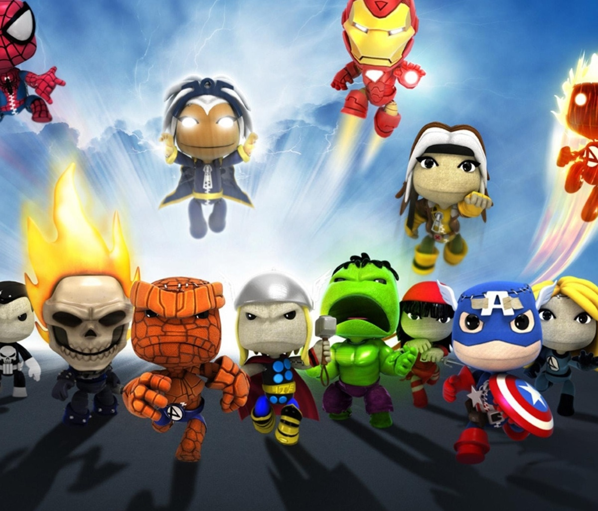 Planet Marvel Superheroes Kids wallpaper 1200x1024