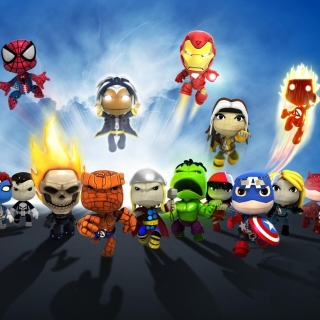 Planet Marvel Superheroes Kids sfondi gratuiti per 1024x1024
