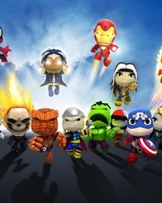 Planet Marvel Superheroes Kids sfondi gratuiti per iPhone 4S