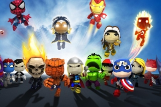 Planet Marvel Superheroes Kids sfondi gratuiti per 480x400