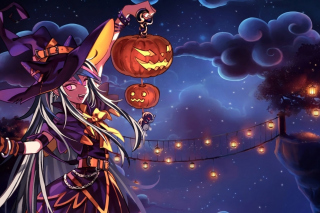 Halloween Anime Background for Android, iPhone and iPad