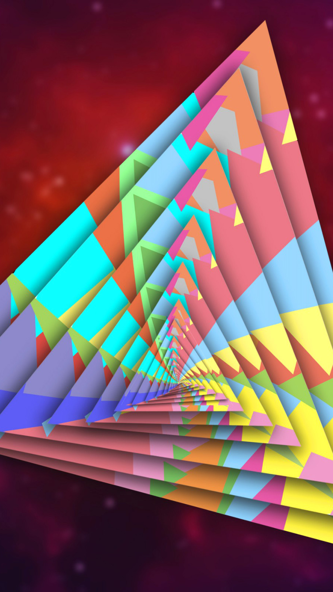 Sfondi Colorful Triangle 1080x1920