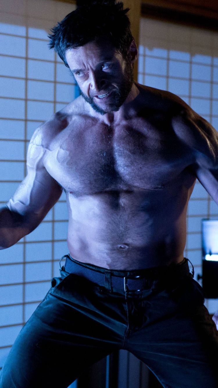 Screenshot №1 pro téma Hugh Jackman In The Wolverine 750x1334