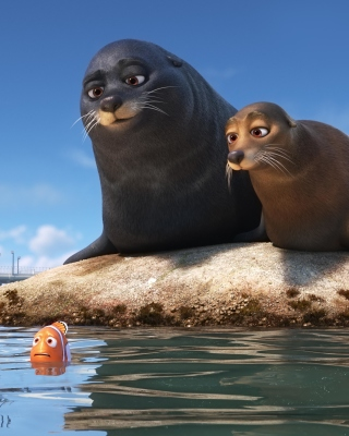 Free Finding Dory with Fish and Seal Picture for Nokia Asha 311