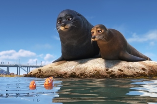 Finding Dory with Fish and Seal - Obrázkek zdarma pro Sony Xperia Z2 Tablet
