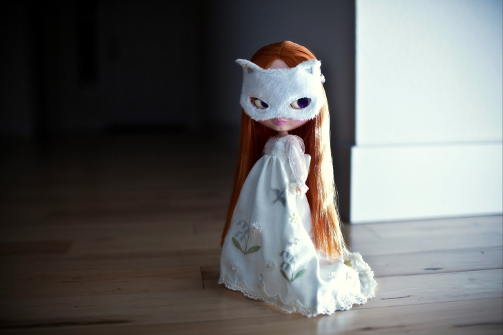 Doll With Cat Mask wallpaper