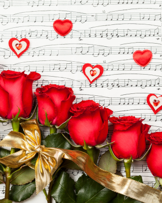 Roses, Love And Music Wallpaper for iPhone 6 Plus