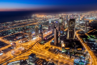 Dubai Night Tour Wallpaper for Android, iPhone and iPad