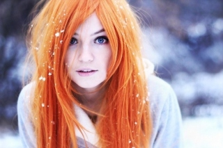 Redhead Girl HD Wallpaper for HTC Sensation 4G