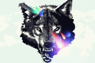 Free Wolf Art Picture for Android, iPhone and iPad