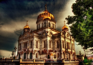 Kostenloses Orthodoxal Chruch of The Christ The Saviour Moscow Wallpaper für Widescreen Desktop PC 1440x900