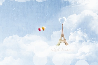 Eiffel Dreams Background for Android, iPhone and iPad