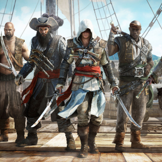 Assassins Creed IV Black Flag Background for 128x128
