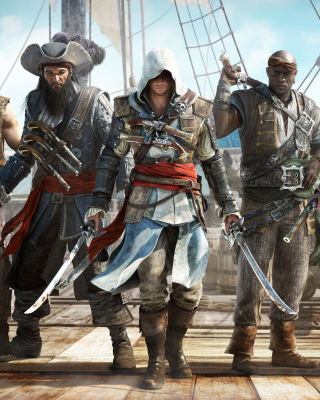 Assassins Creed IV Black Flag sfondi gratuiti per Nokia Asha 308
