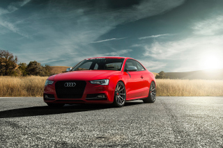 Audi S5 Vorsteiner 2015 Background for Android, iPhone and iPad