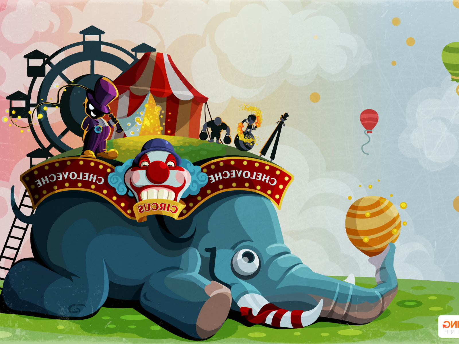 Sfondi Circus with Elephant 1600x1200