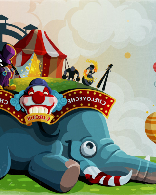 Free Circus with Elephant Picture for Nokia X1-01