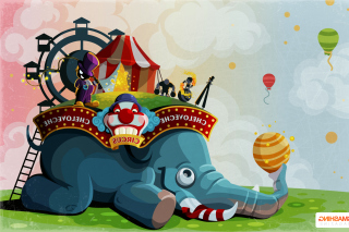 Circus with Elephant Picture for Android, iPhone and iPad