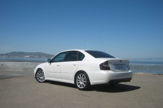 Free White Subaru Legacy Sedan Picture for Android, iPhone and iPad