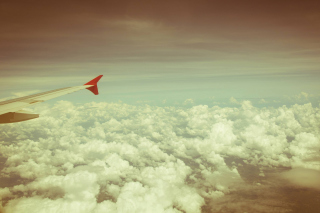 Airplane wing Background for Android, iPhone and iPad