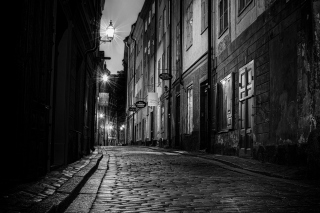 Sverige, Sett paving street in Stockholm Background for Android, iPhone and iPad