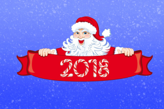 Santa Claus 2018 Greeting Wallpaper for Android, iPhone and iPad