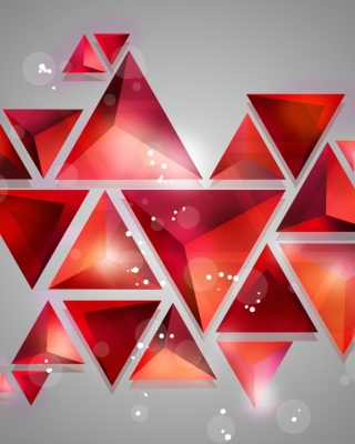 Geometry of red shades - Fondos de pantalla gratis para Nokia C6-01
