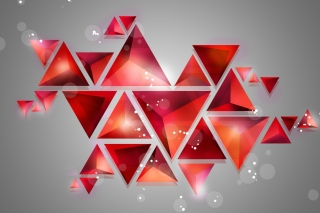 Geometry of red shades Wallpaper for Android, iPhone and iPad