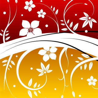 Vector Flowers ClipArt Background for 1024x1024