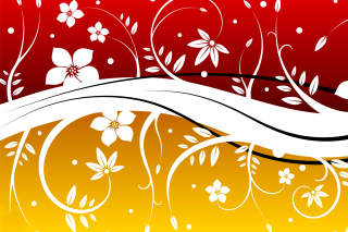 Vector Flowers ClipArt Background for Android, iPhone and iPad