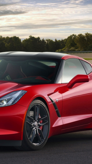 Sfondi Corvette Stingray 2016 360x640