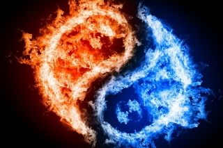 Yin and yang, fire and water papel de parede para celular
