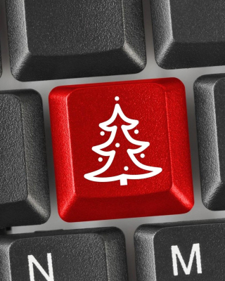 Kostenloses Christmas Tree on Computer Keyboard Wallpaper für iPhone 3G