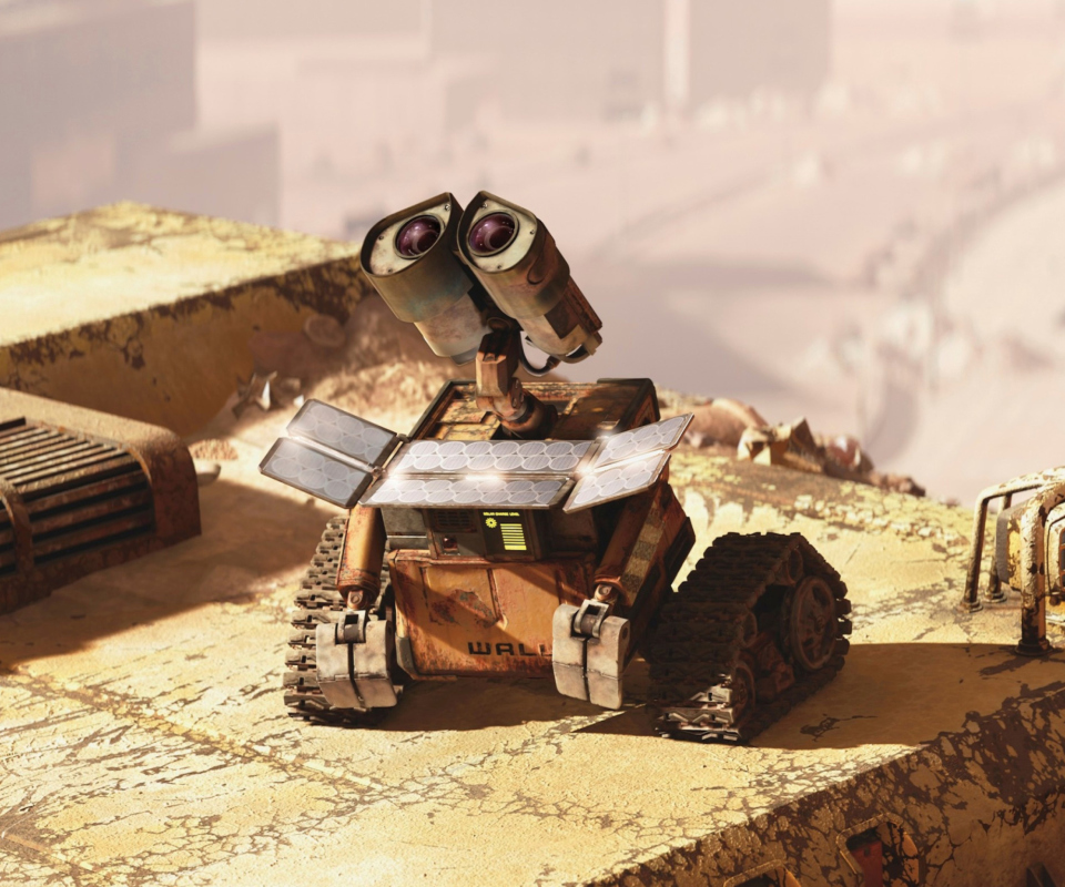Screenshot №1 pro téma Wall E Looking Up 960x800