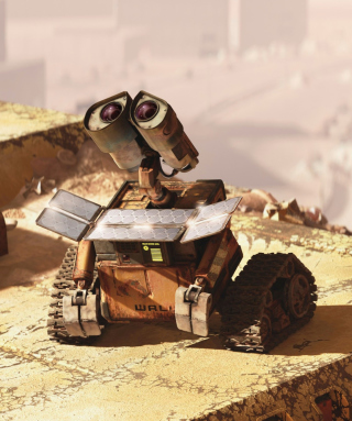 Wall E Looking Up Background for 240x320