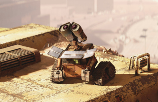 Wall E Looking Up Background for Android, iPhone and iPad