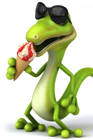3D Reptile With Ice-Cream para Huawei G7300