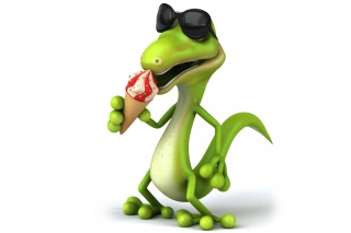 Free 3D Reptile With Ice-Cream Picture for Android, iPhone and iPad