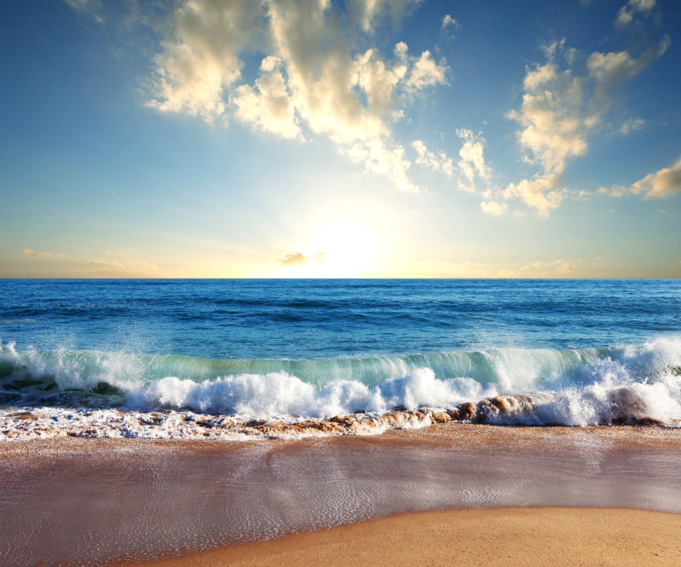 Screenshot №1 pro téma Beach and Waves 960x800