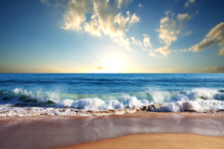 Beach and Waves Background for Android, iPhone and iPad