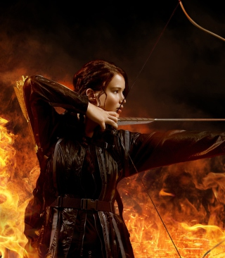 Jennifer Lawrence In Hunger Games Background for iPhone 6 Plus