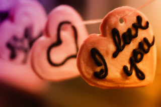 I Love You Cookie Background for Android, iPhone and iPad