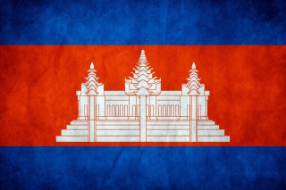 Flag of Cambodia Wallpaper for Android, iPhone and iPad