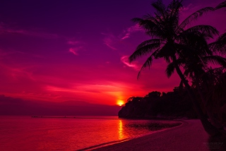 Thailand Beach Sunset Picture for Android, iPhone and iPad