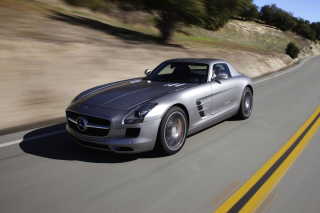 Free Mercedes-Benz SLS AMG Picture for Android, iPhone and iPad