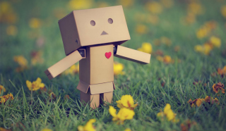 Danbo In Love Picture for Android, iPhone and iPad